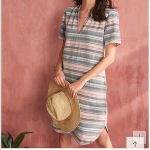 The Odells | Striped Split Placket Dress